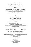 Song from the heart of America, the Lincoln Boys Choir in concert