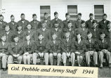 Col. Prebble and army staff, 1944