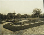 Fountain and flower beds, Hanscom Park